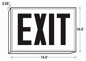 New York-approved Steel Led Exit Sign   Sku