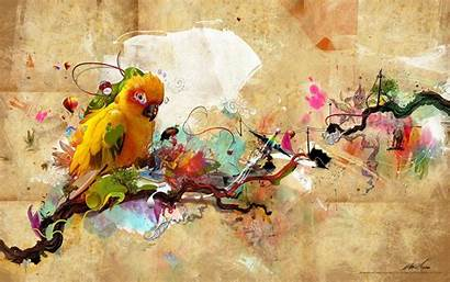 Animal Artistic Bird Colorful Parrot Avant Desktop