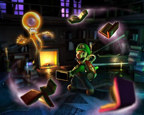 Another Round Of Luigis Mansion Dark Moon Art Mario