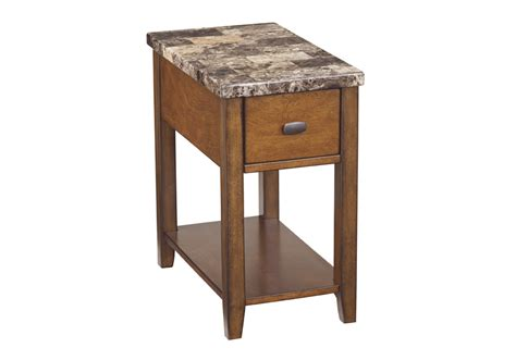 Marble End Tables Living Room : Breegin Marble Top Chairside End Table