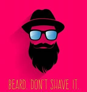 Long beard hipster head portrait vector set 01 | T-Shirt ...