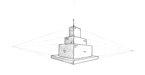 lesson   tower   point perspective   draw