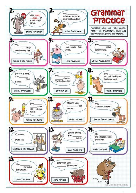 Must Or Mustn't Worksheet  Free Esl Printable Worksheets Made By Teachers