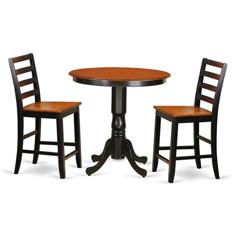 pub table and two chairs wooden importers jackson 3 piece counter height pub table