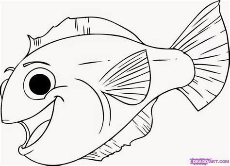 10 mewarnai gambar ikan