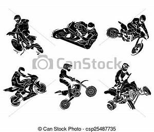 Motorbike tattoo collection vectors - Search Clip Art ...
