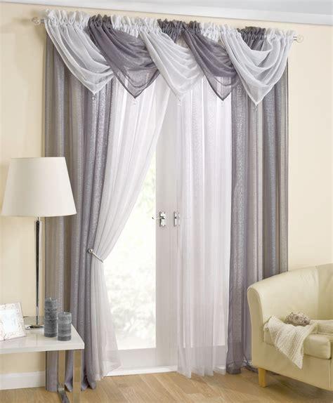 voile drapes casablanca grey voile swag