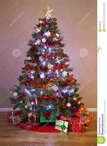 decorated christmas tree with gifts stock image image 33582233