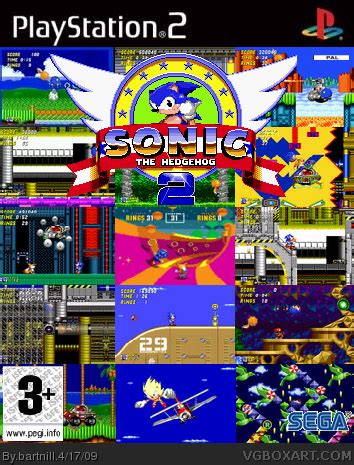 sonic  hedgehog  playstation  box art cover  bartnill