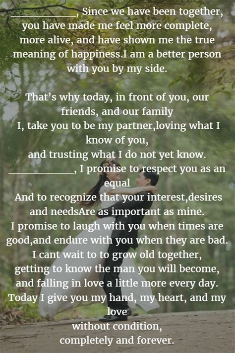 examples    write personalized wedding vows