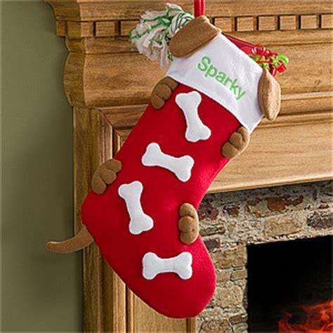 personalized christmas stockings  dogs doggie bones