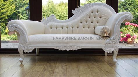 chaise longue salon ornate chaise longue antique white ivory carved