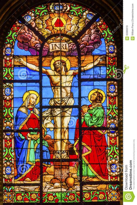 stained glass l crucifixion jesus stained glass louis en l ile