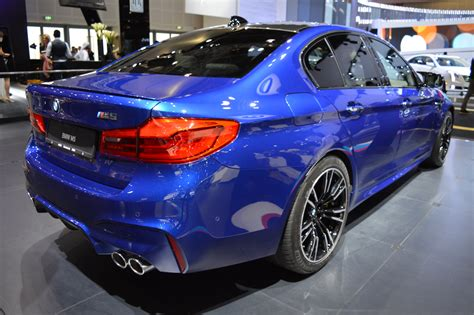 2018 Bmw M5 Rear Three Quarters Right Side At 2017 Dubai