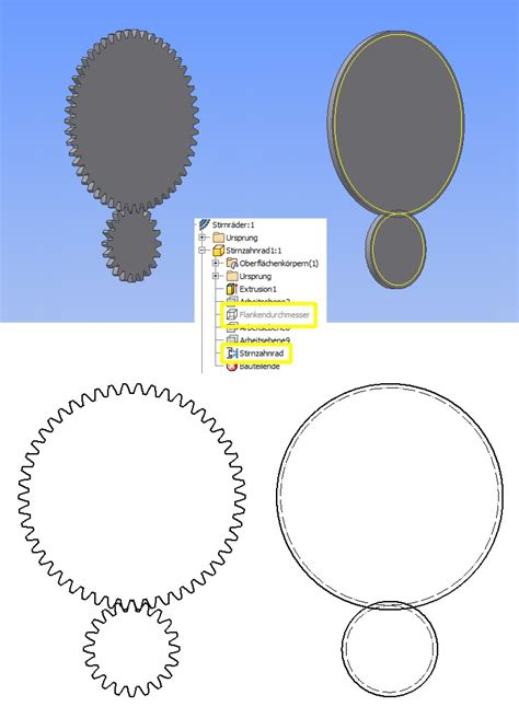 zahnrad vereinfacht darstellen autodeskinventor foren