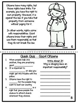 citizenship printable activity book rights