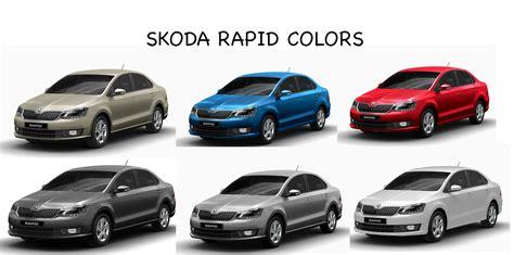 rapid color skoda rapid colors white beige blue silver steel