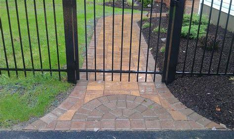 walkway transition block design paver walkways