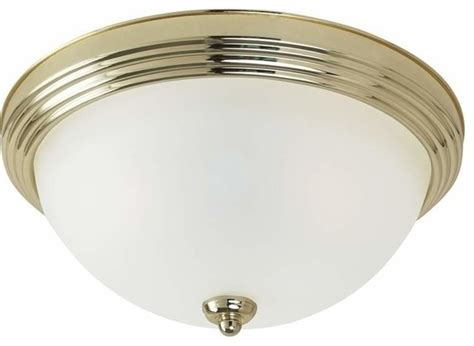 1 light ceiling polished brass traditional flush mount