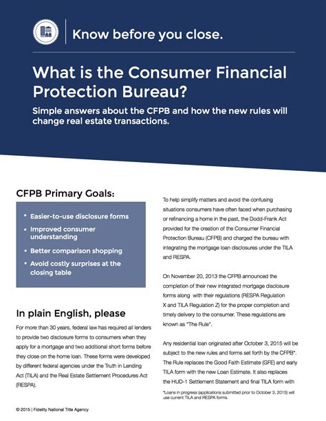 customer protection bureau how the cfpb and trid will change your home buying expe