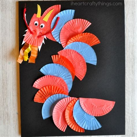 awesome cupcake liner craft i crafty things 486   chinese new year dragon craft