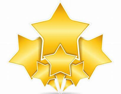 Star Gold Clipart Clip Stars Graphics Animated