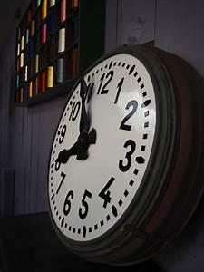 Grande Horloge Industrielle : ancienne grande horloge de gare cadran emall ~ Teatrodelosmanantiales.com Idées de Décoration