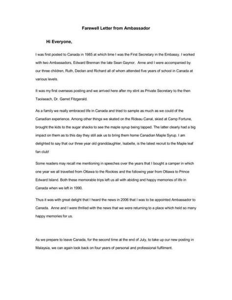 farewell letter samples  boss client