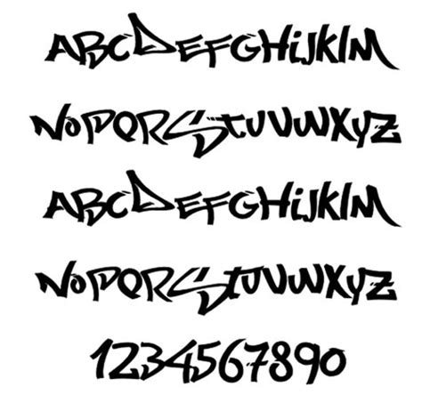 befall a unique designer using graffiti fonts in your