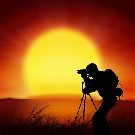 silhouette  photographer  big sun photograph