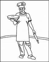Colouring Pages Coloring Baker Printable Sheets Pies Easter Menus Thekidzpage sketch template