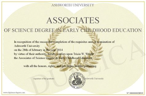 associates  science degree  early childhood education