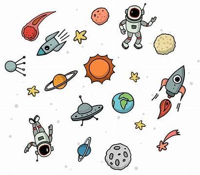Space Outer Clipart Astronaut Transparent Universe Planet