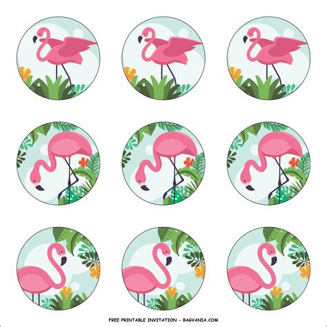 flaming flamingo birthday party kits template bagvania