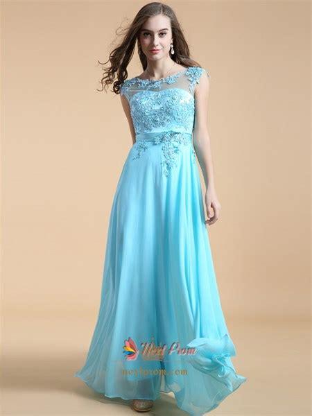 aqua blue bridesmaid dresses  lace cap sleeveslong