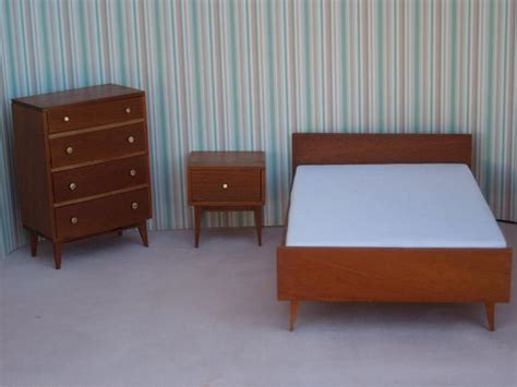 mid century modern bedroom suite mid century modern miniature bedroom suite in mahogany by 19198 | il 570xN.352234703
