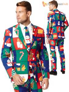 mens christmas opposuit adult xmas party festive oppo suit fancy dress costume ebay