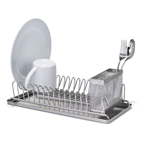 polder stainless steel compact dish rack  container store