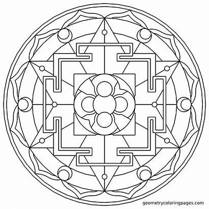 Coloring Sacred Pages Geometry Mandala Geometric Adult
