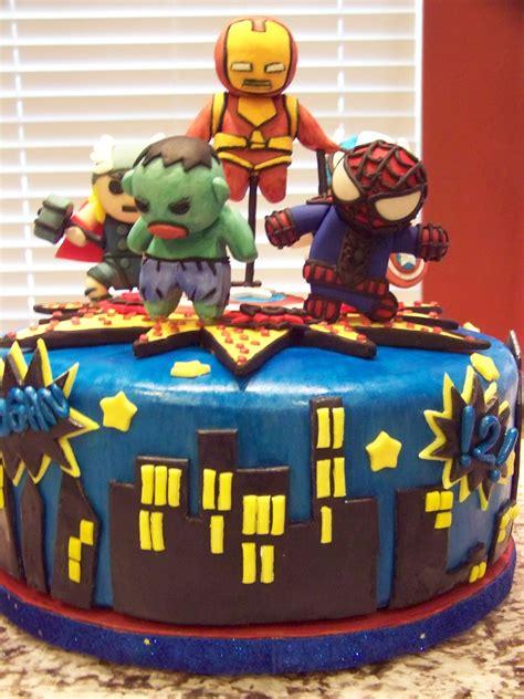 Marvel comics action cake design. Little Marvel Avengers For 2 Yr Old's Birthday ...
