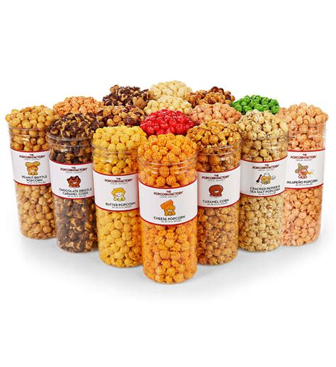 savory clear favorites the popcorn factory 33784
