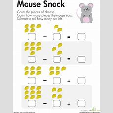 Counting Up Subtraction  Worksheet Educationcom