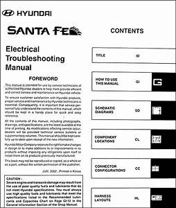 2003 Hyundai Santa Fe Electrical Troubleshooting Manual Wiring Diagram Book Oem