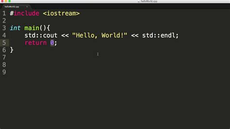 A First C++ Program