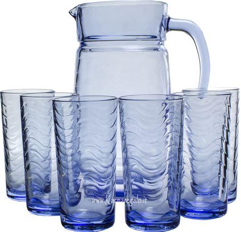 bicchieri bibita pasabahce set caraffa con 6 bicchieri bibita accessori