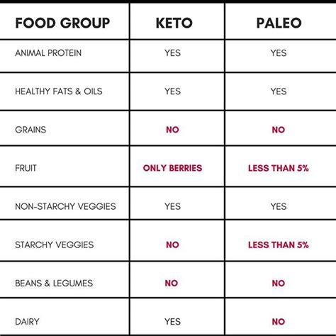paleo  keto diet  differences