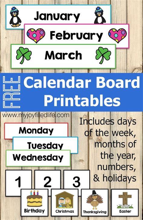FREE Calendar Board Printables   Preschool calendar ...
