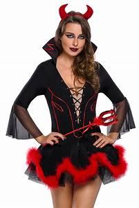 Women Miss Iblis Devil Costume Dress Halloween Role Play