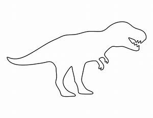 dinosaur outline template clipartsco With dinosaur templates to print