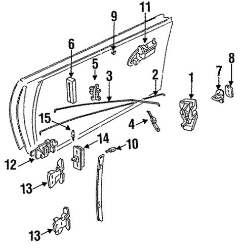 1995 Mitsubishi 3000gt Parts by Door For 1995 Mitsubishi 3000gt